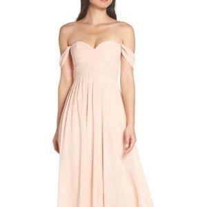 NWT Lulu's chiffon maxi gown size medium